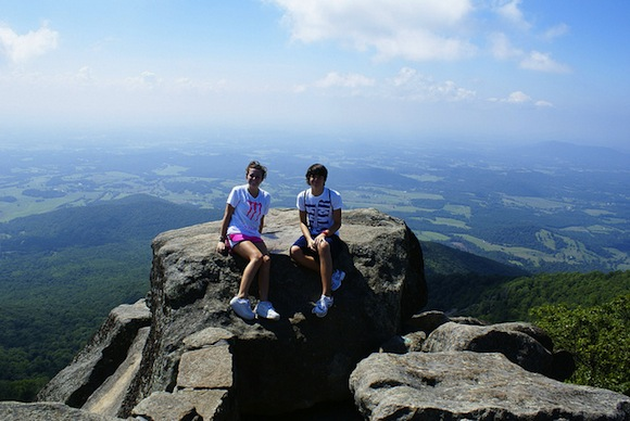 Atop Sharp Top Mountain by L. Richard Martin, Jr. (creative commons)