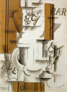 Braque's Fruit Dish and Glass, 1912