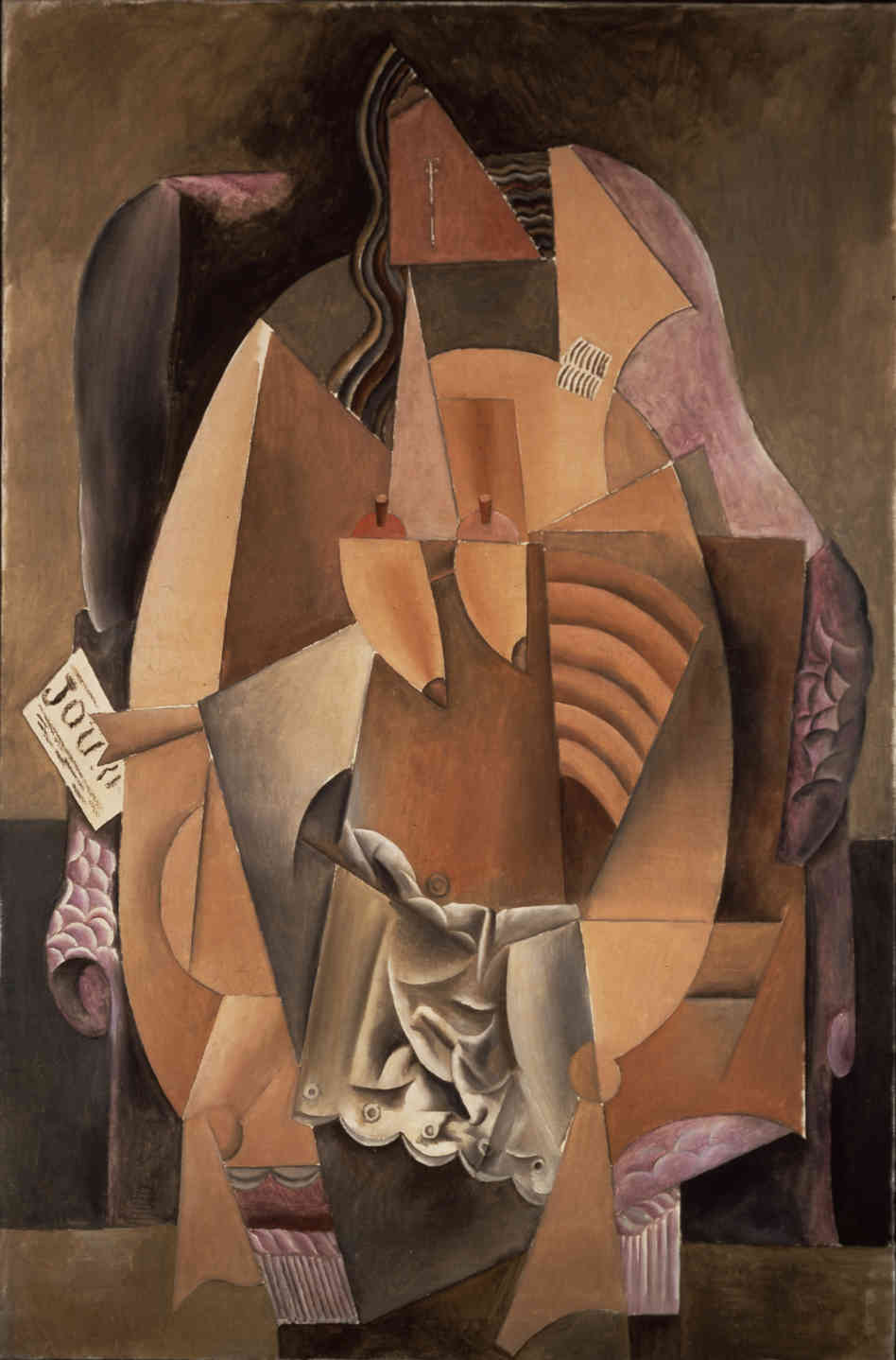 Picasso's Woman in an Armchair (Eva), 1913