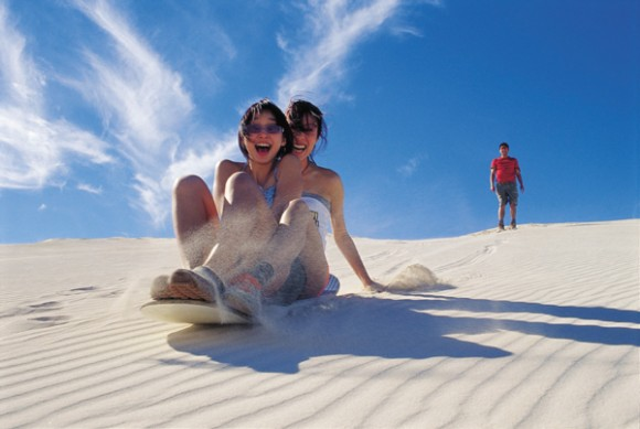 Sand-boarding in Lancelin