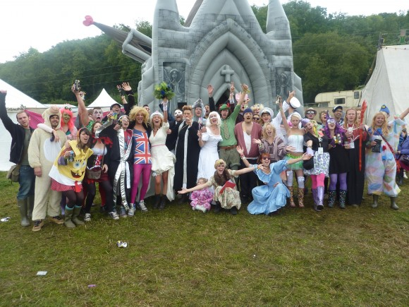 Inflatable church wedding at Bestival 2010 (Creative Commons)