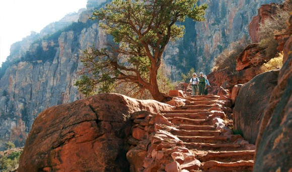 Hiking the Kaibab Trail in the Grand Canyon (Creative Commons)