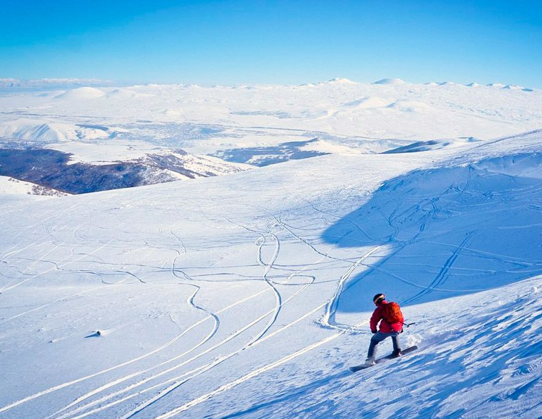 The ski resorts of Armenia are underrated ... so much so, you might be like this guy, with few others around!