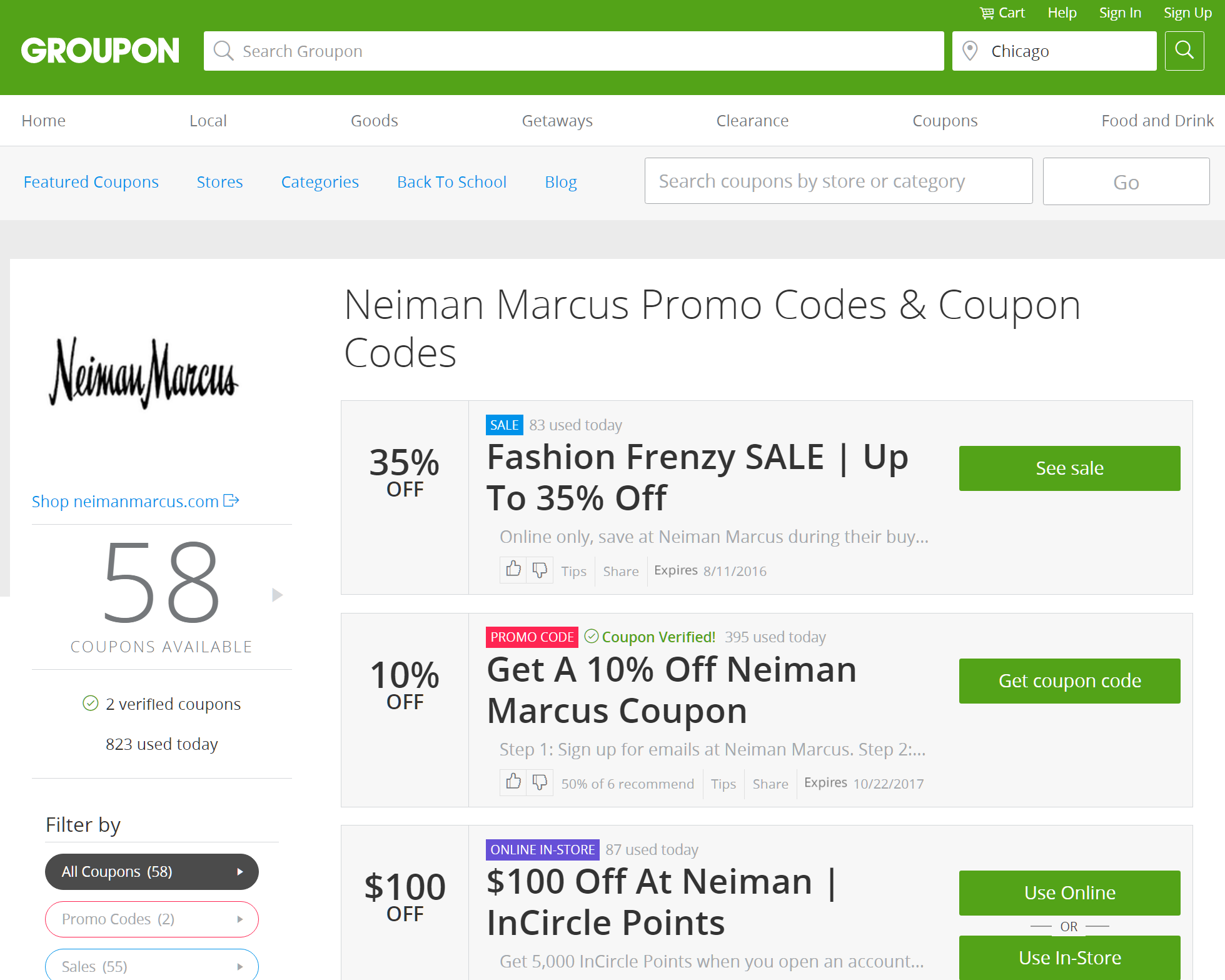 groupon coupons for neiman marcus
